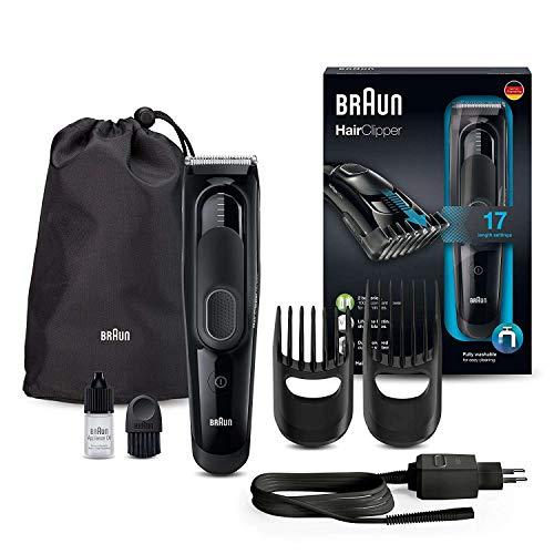 Braun hc5050 tagliacapelli, rifinitore e rasoio barba elettrico, con 17 impostazioni di lunghezza