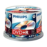 Philips DVD+R Rohlinge (4.7 GB Data/120 Minuten Video, 16x High Speed Aufnahme, 50er Spindel)