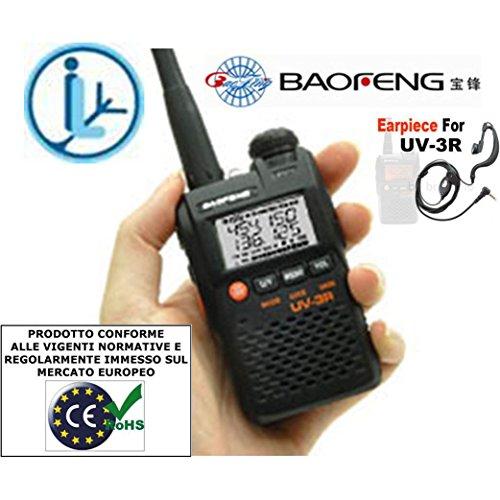 BAOFENG UV-3R MKII RTX VHF-UHF CON DSP CON CAVO USB e AURICOLARE e MIC