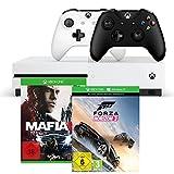 Xbox One S 500GB Konsole - Forza Horizon 3 + Mafia III + Xbox Wireless Controller (schwarz)