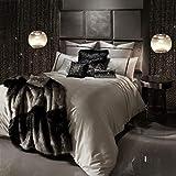 Kylie Minogue at Home Messina Bettwäsche, luxuriöses Designer-Bettwäsche, King-Size-Größe, Mist/Grey