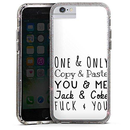Apple iPhone X Bumper Hülle Bumper Case Glitzer Hülle Best Friend Freundschaft Friendship Bumper Case Glitzer rose gold
