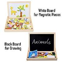 Set Disegno Puzzle Magnetico Legno da Kurtzy   Inizia a sprigionare la creatività con i tuoi bambini. Facendo conoscere questo set ai tuoi bambini, incentiverai la loro creatività, permettendo loro di creare belle immagini di cui godrete ins...