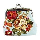 ♬LILICAT Femmes Lady Retro Vintage Fleur Petit Portefeuille Hasp Purse Clutch Bag