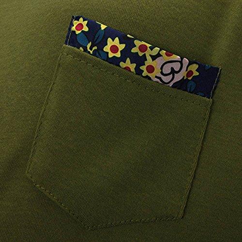ZANZEA Femme S-XXL Tunique Robe Chemise Haut Pull Shirt Manches longues A-line Lâche Vert