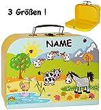 alles-meine.de GmbH 3 tlg. Set _ Kinderkoffer / Koffer - Mittel -  Bauernhof / Tiere  - Incl. NA..