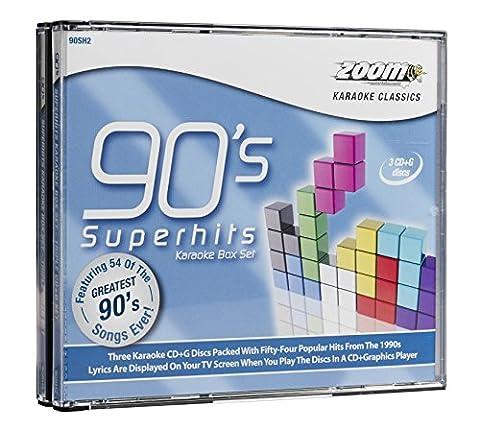 Zoom Karaoke - Nineties Superhits Box Set - 50 Songs - Triple CD+G Set