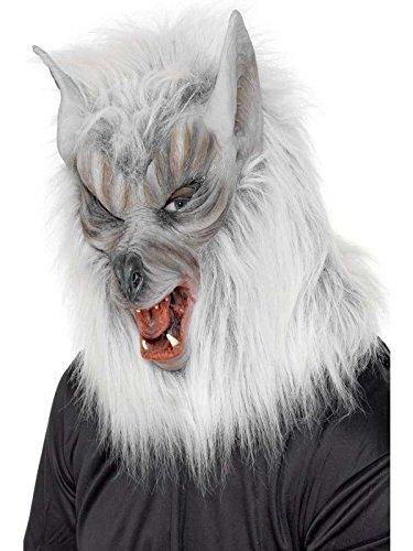 Maske integral Wolf garou mit Pelz ()