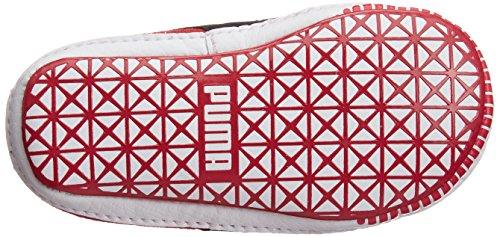 Puma Suede Crib, Baskets mode mixte bébé Rouge (High Risk Red/Black)