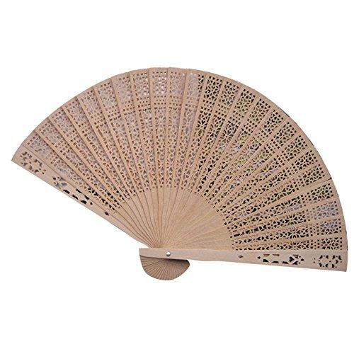 Hochzeitsfeier Dekor Bambus Holz duftenden Falten Hand Fan,Chinesischen Stil Falttanz Geschenke Handfächer Wandfächer Stofffächer Stoff Fächer Faltfächer Klappfächer Hochzeitsfächer - Holz Tanz Kostüm