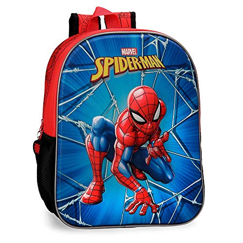 Mochila 33cm frontal 3D Spiderman Black