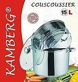 KAMBERG® - Couscoussier 15 Litres en Acier Inoxydable de Haute Qualité.