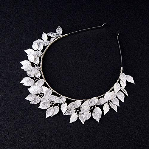 WYEING. Damen Gold Blatt Haarband Braut - Retro Rom Göttin Bridal Und Krone Für Party Und Abends Frauen Und Mädchen(Gold, Silber),Silver