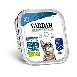 Yarrah Bio Bouchées au Poisson pour Chat 100 g - Lot de 8