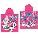 Disney Frozen 2200001428 - Poncho da Spiaggia, colore: rosa