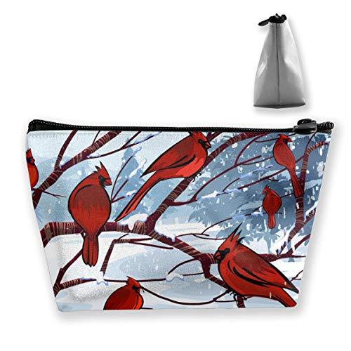 Kardinal Vögel 1 Frauen Mädchen hängen Clutch Bag Kosmetiktasche Reisen Make-up Taschen Trapez Tasche - Kardinäle Polyester
