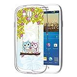 Samsung Galaxy S3 Mini Handyhülle Hülle Schutz Cover Silikon Case Eulen Schaukel