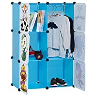 LANGRIA 6-Cube Cabinet Storage Unit Organiser for Kids