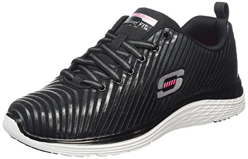 Skechers Valeris-Perfect Storm, Chaussures de Tennis Femme Nero