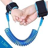 Anti Verlorene Handgelenk Gürtel, Baby Kleinkind Sicherheit Armband Zügel Kind Verbindung Link Leine Harness Elastisches Drahtseil(1 blau )