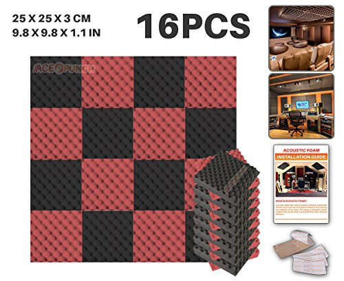ace-punch-16-pack-2-colors-black-and-red-egg-crate-acoustic-foam-panel-diy-design-studio-soundproofi