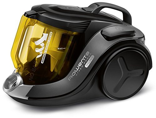 Rowenta RO6984EA X-Trem Power Cyclonic Animal Care beutelloser Bodenstaubsauger (750 Watt, Staubbehälterkapazität: 2,5 Liter, Aktionsradius: 8,8 Meter) schwarz/gelb