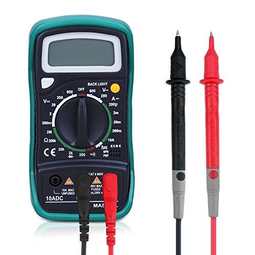 powerjc Digital de multímetro digital de mini de multímetro XL830L batería Tester DMM Metro para comprobar Voltaje de DIY DC Corriente alterna DC Obstrucción amperímetro voltímetro Ω metros con pantalla LCD