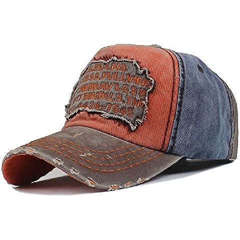 Men's Distressed Vintage Baseball Cap Snapback Trucker Hat, Outdoor Sports Baseball Hat, Hiking Hat, Running Hat by Sun Hat