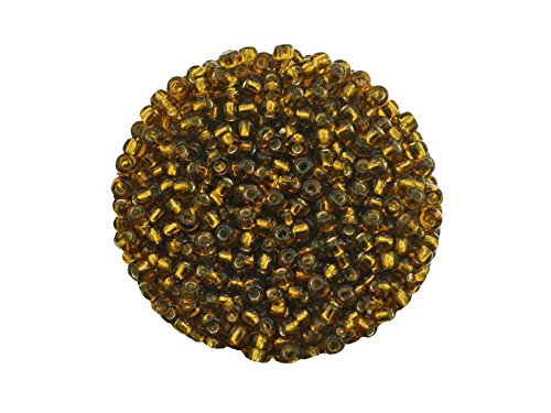 Creative Beads Rocailles, Glasperlen, 2.6 mm. Silbereinzug. 50gr. Beutel. zum auffädeln, basteln,...