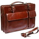 Bags4Less Leder Aktentasche in Braun Model: Mondial
