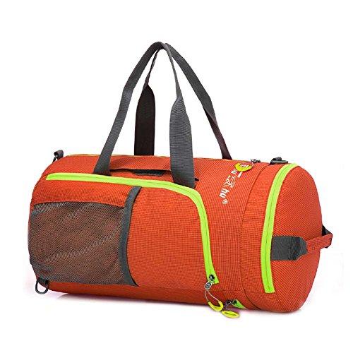 Huntvp Klassische Sporttasche Tactische Militarische Umhängetasche Multifunktionale Rucksack Wasserdicht Handgepäck für Bergsteigen Reisen Radfahren Orange