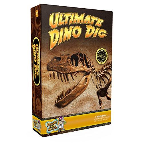 Discover with Dr. Cool Kit de Ciencia para la Excavación de Fósiles de Dinosaurios, con Esqueleto de tiranosaurio Rex para Montar