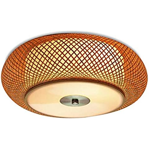 N.DFB Lampada da soffitto camera da letto minimalista studiare Giapponese Coreano RoomLedNew vivente manuale cinese bamboo bambù lightI soffitto, sez. A.)