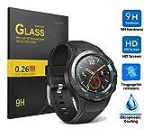 Huawei Watch 2Proteggi Schermo, KuGi Huawei Watch 2panzerglas Schermo di alta qualità 9H durezza HD Protezione Schermo in Vetro Temperato per Huawei Watch 2Smartwatch. HD löschen X1