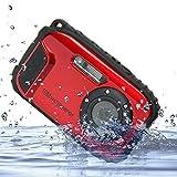 PowerLead Unterwasser Kamera 2,7 Zoll LCD Digitalkamera 16MP Video Camcorder Wasserdicht Kamera Zoom Video Recorder + 8 X Zoom Cam Bild