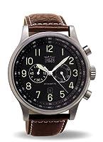 Reloj de caballero Davis 451 de cuarzo, correa de piel color marrón de Davis