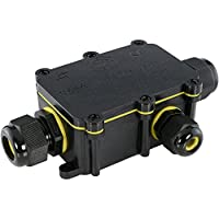 Verbindungsbox Kabelverbinder T-Form f/ür Kabel /Ø 4-14 mm in schwarz SSC-LUXon/® wCable Verbindungsmuffe T-St/ück IP68 Wasserdicht 5-polig