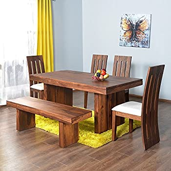home by nilkamal delmonte six seater dining table set brown - 6 Seater Dining Table And Chairs