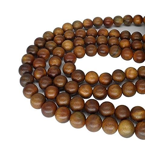 carpenterc 200/Rosenblätter aus 6mm/8mm Gorgeous natur rund poliert Rosewood lose Perlen für Schmuckherstellung DIY handgefertigt Craft, Green sandalwood(200pcs), 6 mm