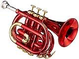 Roy Benson PT-101R Trompette de poche Sib Rouge
