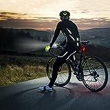 MUBYTREE Fahrradbeleuchtung Fahrradlicht Set Stvzo Automatische mit USB 5 Leuchtmodi IPX6 Wasserdicht MEHRWEG