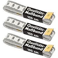 Faden & Nadel 3 x Schneidermaßband, Maßband, Bandmaß in weiß, Länge: jeweils 150 cm lang
