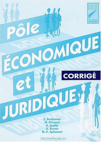 Pôle économique et juridique 2nde professionnelle Toutes sections tertiaires : Corrigé