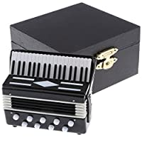 Dollhouse Miniatures: 1:12 Scale Accordion Musical Instrument Figure Pretend Play Toy, Dolls House Decoration and Accessories
