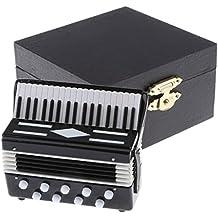 Sharplace Escala 1/12 Juguete Mini Acordeón de Metal con Caja de Almacenamiento Decoración para Dollhouse