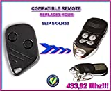 SEIP SKRJ433 compatible remote control replacement transmitter, 433.92Mhz rolling code keyfob