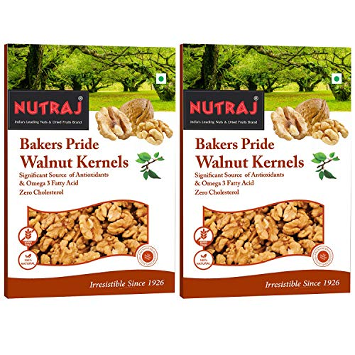 Nutraj Bakers Pride Walnut Kernels (250 Gms*Pack Of 2) - Vacuum Pack