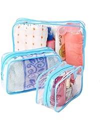 Velishy(TM) PVC Clear Plastic Pouch Travel Bathing Toiletry Zipper Cosmetic Bag by Velishy