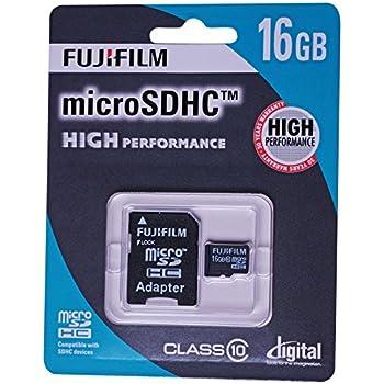 Fujifilm 16 GB Alto Rendimiento C10 Tarjeta Micro SDHC con ...