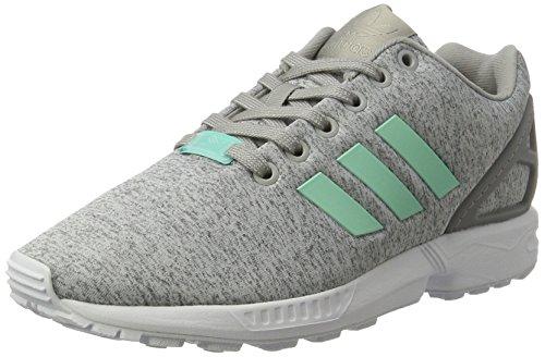 adidas Damen ZX Flux Sneakers, Grau (Medium Grey Heather/Easy Mint/Ftwr White), 40 EU